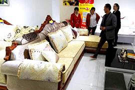 成都沙发厂森泰莱重庆南川专卖店卖场达到1300平米