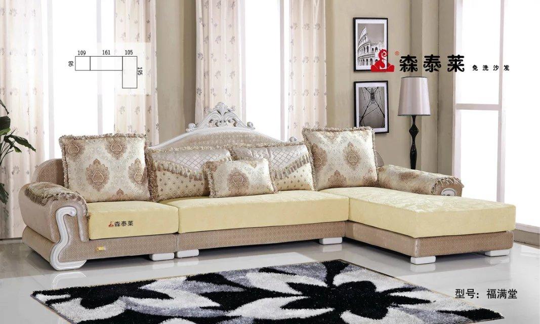 欧式现代布艺沙发-福满堂