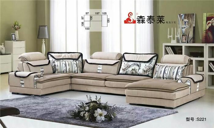 现代风格布艺沙发-221